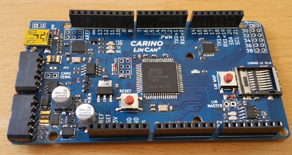 CARINO LC - Arduino compatible board with LIN and dual CAN bus connectivity