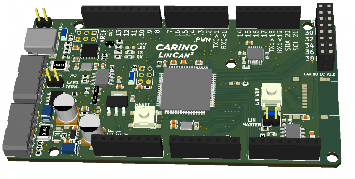 CARINO LC - Arduino compatible CAR hacking platform with CAN and LIN connectivity